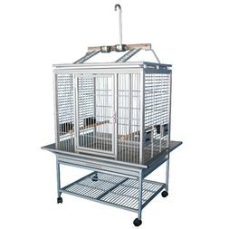 King's Cages ACP 3325 PLAY TOP ALUMINUM PARROT CAGE bird toy