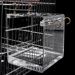 Acrylic Bath House Bird Cage Bird Bath For Cockatiels Parrot