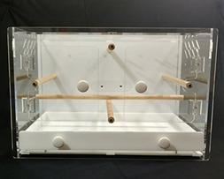 Acrylic Bird Cage One - 23x16x16 High- Laser cut - Carrier -