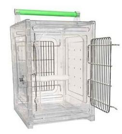 ACRYLIC PARROT TRAVEL CARRIER CAGE bird cages toy toys Quake