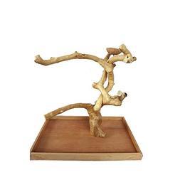 XLarge Java Wood Table Top Play Stand 28'x18'x27' Java Wood