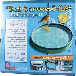 All Seasons 3-in-1 Heated Birdbath 75 Watt Green