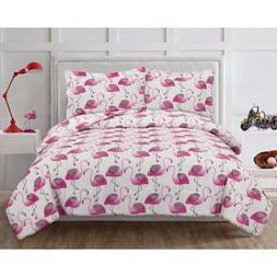 ALL SIZES Fiona Pink Flamingo Comforter & Sham Set Tropical