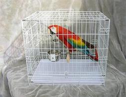 AllPets- Travel Cage- Large- for Too's, Macaws- white coated