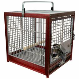 KINGS CAGES  ALUMINUM Sm / Med TRAVEL CARRIERS CAGE parrot b