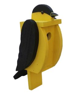 AMERICAN GOLDFINCH BIRDHOUSE Solid Wood Gold Finch Bird Hous