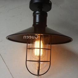 American industrial iron loft ceiling light black warehouse