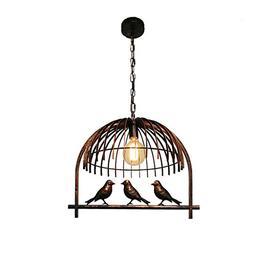 American Retro Industrial Chandelier, Bird Decorative Hangin