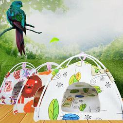 Animals Canvas Tent Bird Hamster Hammock Hanging Nest Printe