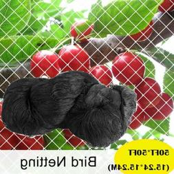 Anti Bird Netting 50'X50' Garden Poultry Aviary Game Plant P