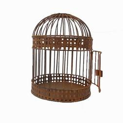 Craft Outlet Antique Rustic Wired Bird Cage, 8.5 by 10.5-Inc