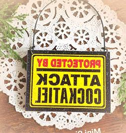 "New Approx. 2-1/2"" x 3-3/8"" Mini Ornament Novelty Gift Sign"