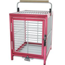 ATT 1214 ALUMINUM PARROT Bird Cage pet Travel Carrier toy to