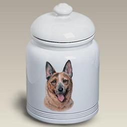 "Australian Cattle Dog: Ceramic Treat Jar 10"" High #45072"