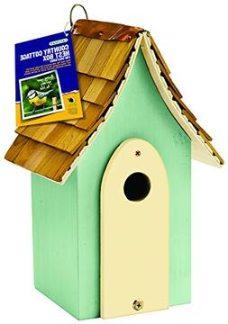 Gardman BA01683 Country Cottage Nest Box, Green