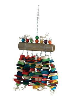 Caitec Bamboo Log Bird Chew Toy, Colorful & Entertaining, Gr