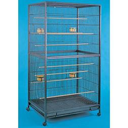 YML Bar Spacing Aviary Bird Cage, 35 by 35-Inch, Antique Sil