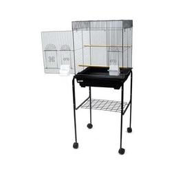 """YML 5924 3/8"""" Bar Spacing Flat Top Bird Cage with Stand, 18"""""""