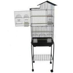 "YML 6894 3/8"" Bar Spacing Tall Villa Top Bird Cage with Stan"
