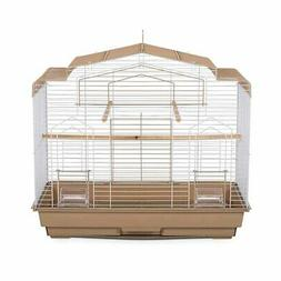 Prevue Pet Products Barn Style Bird Cage, Brown and White