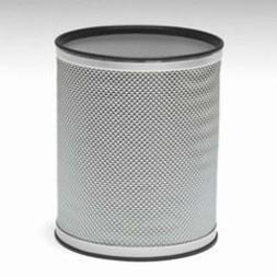 Bath Jewelry Diamond Pattern Round Wastebasket, Silver with
