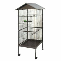 ALEKO BC002 Large Steel 20X20X61 Inch Bird Cage Pet House Pa