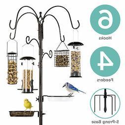 BCP 89in 6-Hook Bird Feeding Station, Steel Multi-Feeder Sta