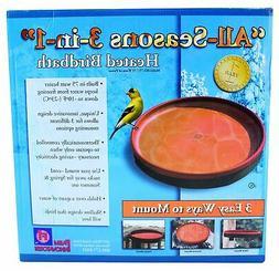Farm Innovators BD-75 All Season 3-In-1 Heated Bird Bath, Te