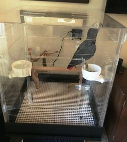 Bird Acrylic Carrier Small CAge All Acrylic No Base for SMal