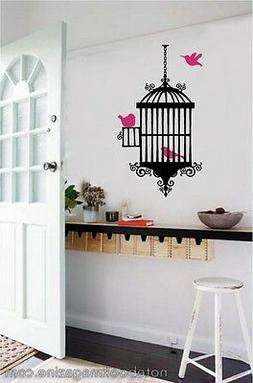 Bird & Cage Vinyl Wall Decal Stickers Room Decor