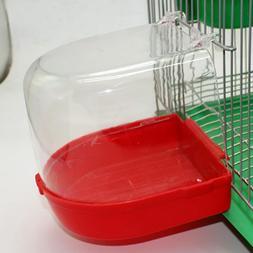Bird Bath Bowl Cage Water Hanging Birdbath Plastic Vision Fo