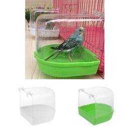 Bird Bath Box Hanging Bird Bath Cage Shower Box Bathtub for