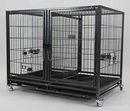 Bird Breeding Cages Double With Casters Dog Crate Divider Fe