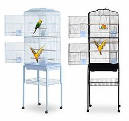 "Bird Cage 63"" Large Finch Parrot Conure Metal Wheels Play To"