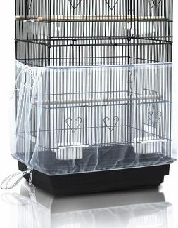 Bird cage Cover Universal-Seed Catcher Mesh Parrot Cage Skir
