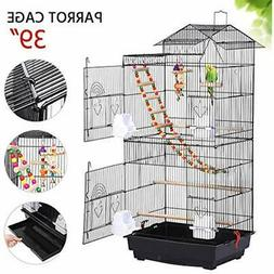 Bird Cage For Mid-Sized Parrots Cockatiels Parakeets Conures