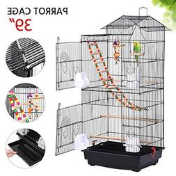 Yaheetech Bird Cage for Mid-Sized Parrots Cockatiels Parakee