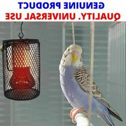 Bird Cage HEATER Iron Warmer Heating LAMP Light for Parakeet
