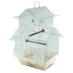 "18"" Small Parakeet Wire Bird Cage for Finches Canaries Hangi"