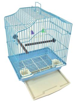 BIRD CAGE KIT Starter Set Perches Swing Feeders Scalloped To