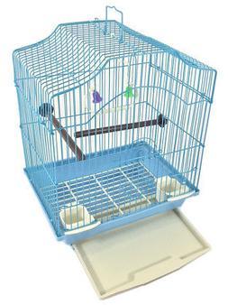 Bird Cage Kit Starter Set for Small Bird - Blue