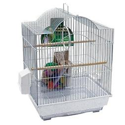 Penn Plax Small Bird Cage Kit - Arch-Style - White