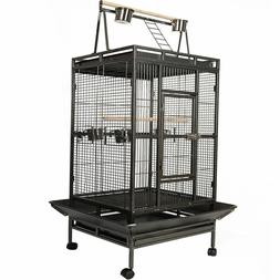 Bird Cage Large Play Top Parrot Finch Cage Macaw Cockatoo Pe