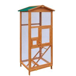 Bird Cage Large Wood  with Metal Grid Flight Cages for  Bird