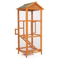"JAXPETY 65"" Large Bird Cage Metal Parrot Aviary Birds House"