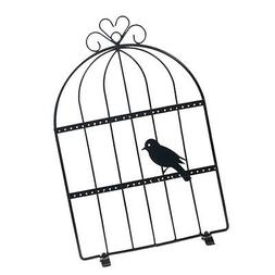 Bird-cage Metal Wire Earring Holder Jewelry Organizing Hange