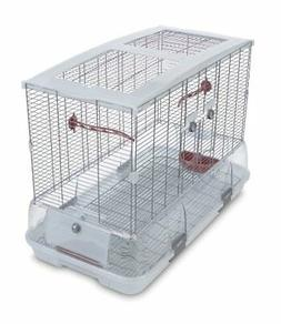 Bird Cage Model L01 LARGE WHITE Pet Supplies