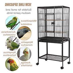 SUNCOO Large Bird Cage for Parrot Budgie Parakeet Cockatoo C