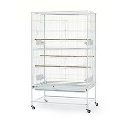 Large Bird Cage Parrot Finch Play Top 2 Doors Stand Pet Supp