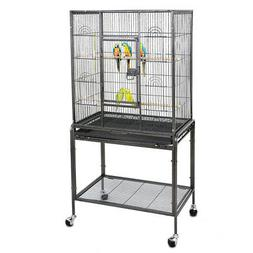 "Bird Cage Large Parrot Play Cockatiel House 53"" Metal Stand"